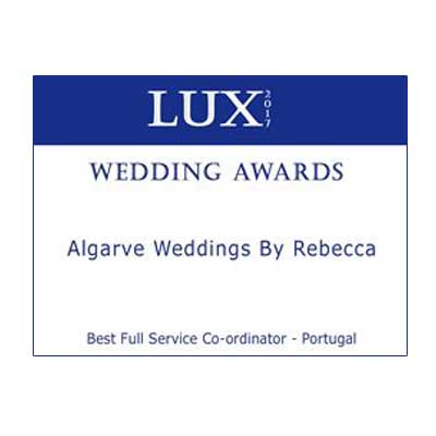 Wedding Awards Weddings by Rebecca Woodhall Wedding Planner Algarve portugal